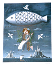 Peynet - poisson-volant